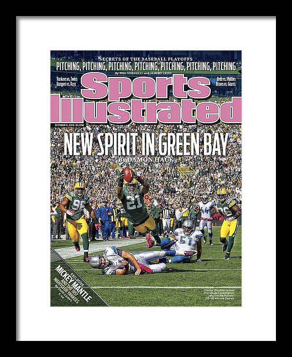 Green Bay Framed Print featuring the photograph Detroit Lions V Green Bay Packers Sports Illustrated Cover by Sports Illustrated