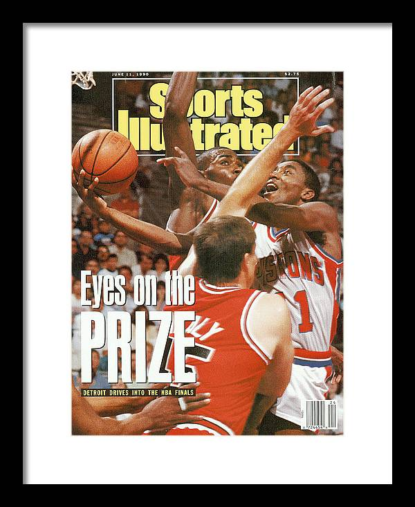 Chicago Bulls Framed Print featuring the photograph Detroit Pistons Isiah Thomas, 1990 Nba Eastern Conference Sports Illustrated Cover by Sports Illustrated