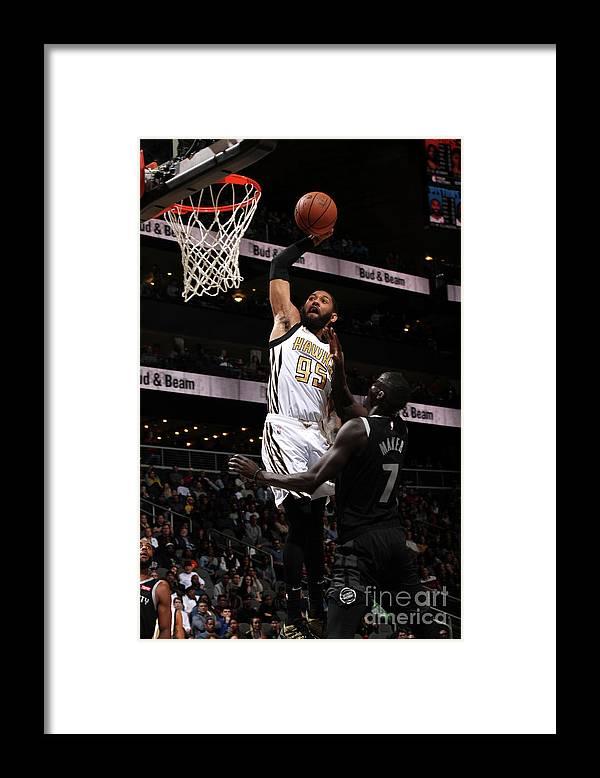 Atlanta Framed Print featuring the photograph Detroit Pistons V Atlanta Hawks by Jasear Thompson