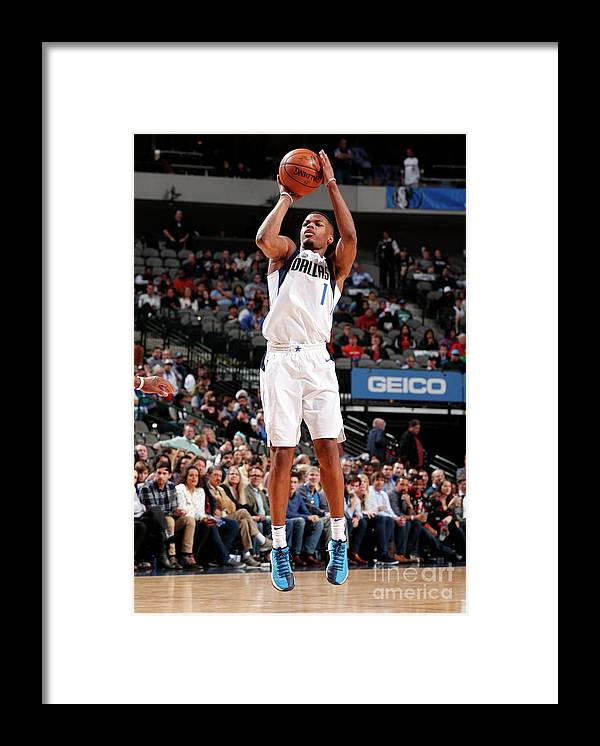 Nba Pro Basketball Framed Print featuring the photograph Detroit Pistons V Dallas Mavericks by Danny Bollinger