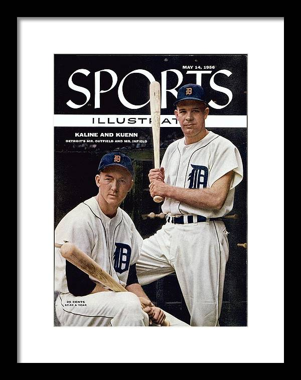 Magazine Cover Framed Print featuring the photograph Detroit Tigers Al Kaline And Harvey Kuenn Sports Illustrated Cover by Sports Illustrated