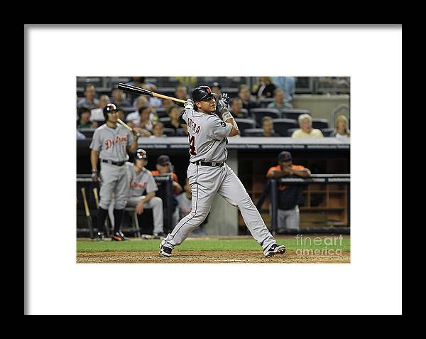 People Framed Print featuring the photograph Detroit Tigers V New York Yankees by Nick Laham