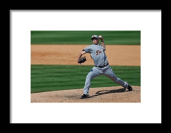 American League Baseball Framed Print featuring the photograph Detroit Tigers V St Louis Cardinals by Stacy Revere