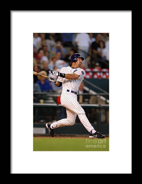 Opening Ceremony Framed Print featuring the photograph Diamondbacks V Rockies by Barry Gossage