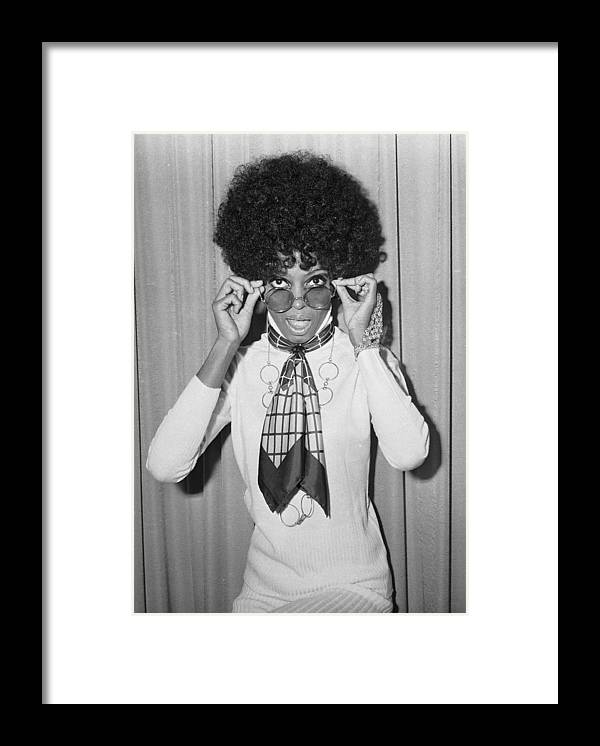 Singer Framed Print featuring the photograph Diana Ross by Larry Ellis
