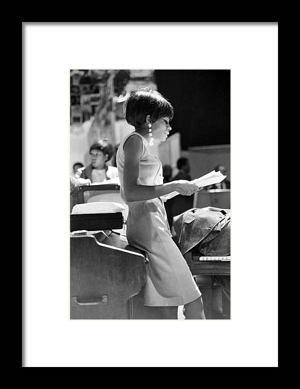 Singer Framed Print featuring the photograph Diana Ross On Hullabaloo by Michael Ochs Archives