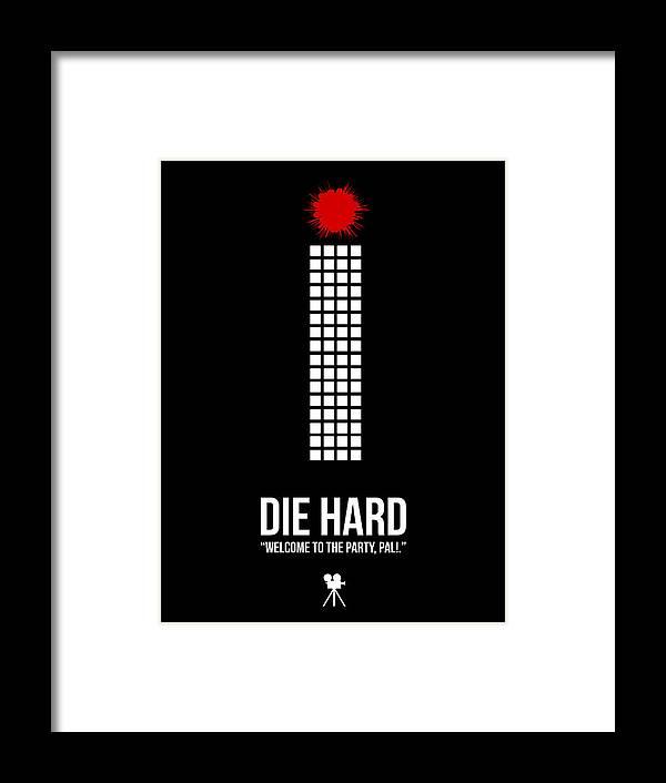Die Hard Framed Print featuring the digital art Die Hard by Naxart Studio