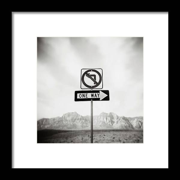 Non-urban Scene Framed Print featuring the photograph Directional Signs by David Madison