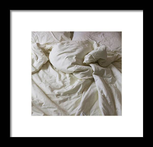 Hotel Framed Print featuring the photograph Discarded Bed, Early Morning by Julio Lopez Saguar