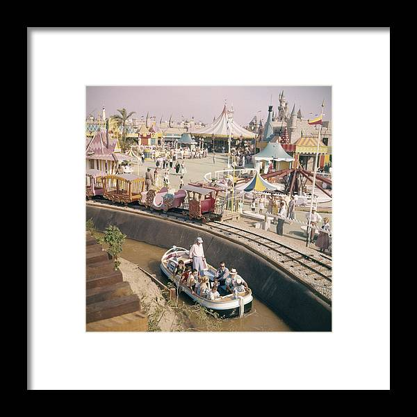 Timeincown Framed Print featuring the photograph Disneyland Opening, 1955 by Loomis Dean