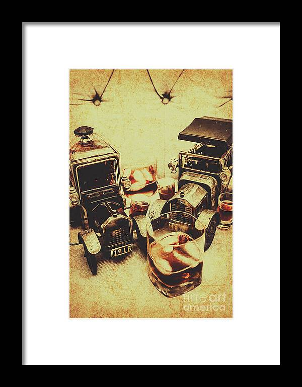 Bourbon Framed Print featuring the photograph Distillery Decor by Jorgo Photography - Wall Art Gallery