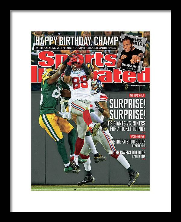 Green Bay Framed Print featuring the photograph Divisional Playoffs - New York Giants V Green Bay Packers Sports Illustrated Cover by Sports Illustrated