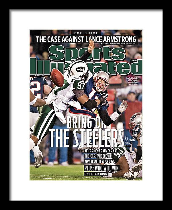 Magazine Cover Framed Print featuring the photograph Divisional Playoffs - New York Jets V New England Patriots Sports Illustrated Cover by Sports Illustrated