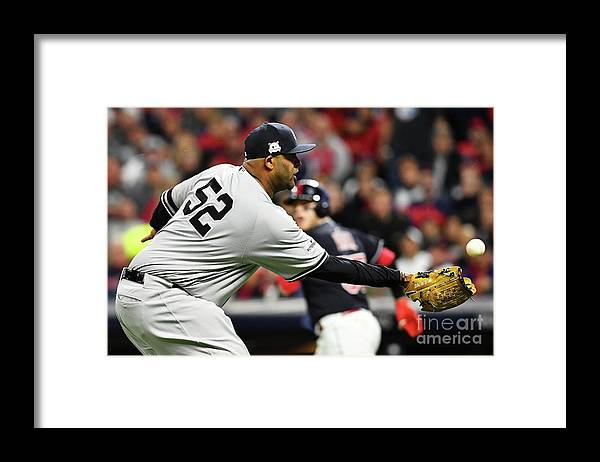 Three Quarter Length Framed Print featuring the photograph Divisional Round - New York Yankees V by Jason Miller
