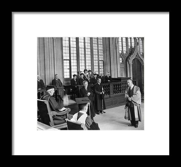 Education Framed Print featuring the photograph Doctor Of Literature by Erich Auerbach