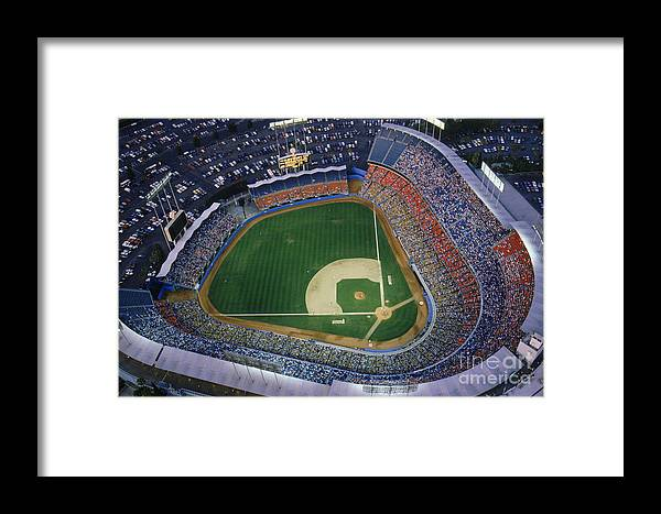 Viewpoint Framed Print featuring the photograph Dodger Stadium by Getty Images