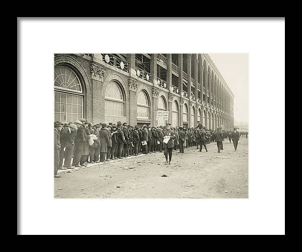 Horse Framed Print featuring the photograph Dodgers Fans In Line At Ebbets Field by Fpg