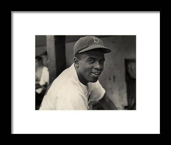 People Framed Print featuring the photograph Dodgers Infielder by Hulton Archive