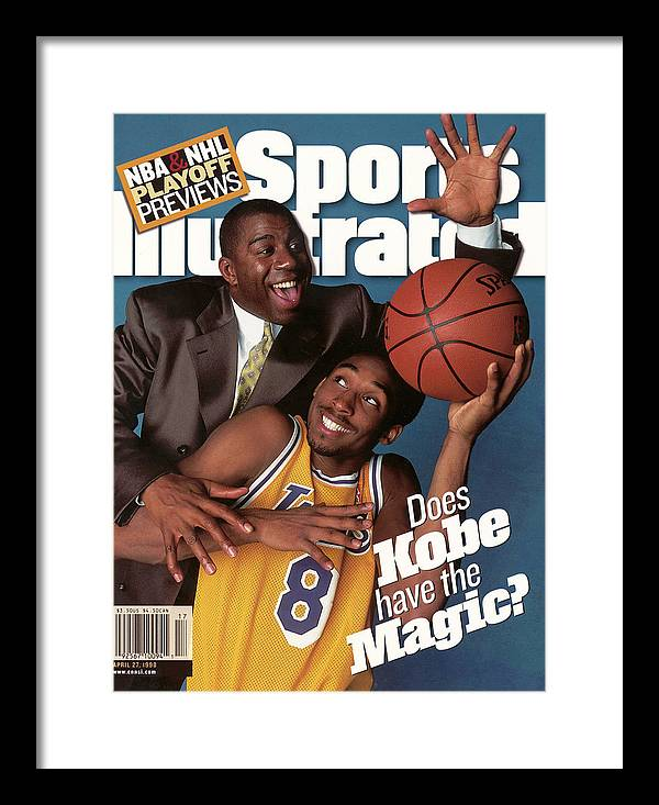 Magazine Cover Framed Print featuring the photograph Does Kobe Have The Magic Sports Illustrated Cover by Sports Illustrated