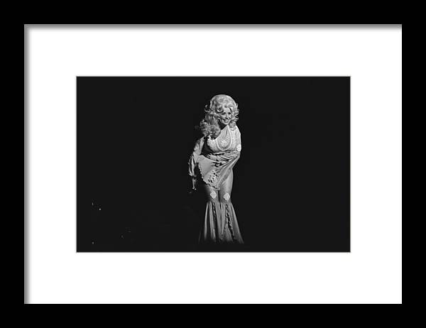 Music Framed Print featuring the photograph Dolly Parton Performs Live by Richard Mccaffrey