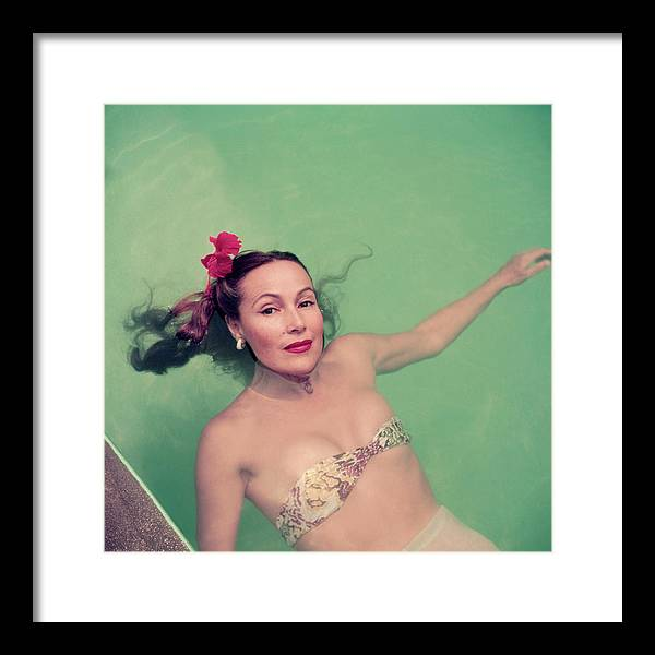 Dolores Del Rio Framed Print featuring the photograph Dolores Del Rio by Slim Aarons