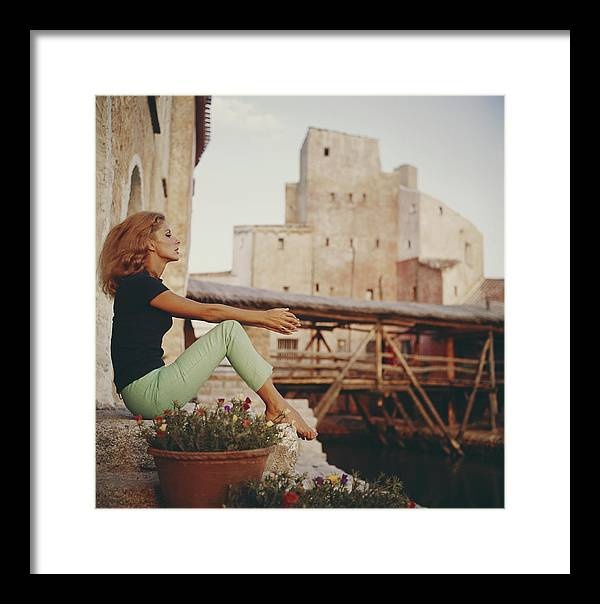 Tranquility Framed Print featuring the photograph Dolores Guinness by Slim Aarons