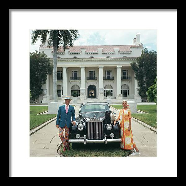 Pets Framed Print featuring the photograph Donald Leas by Slim Aarons