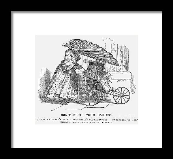 Engraving Framed Print featuring the drawing Dont Broil Your Babies, 1859 by Print Collector