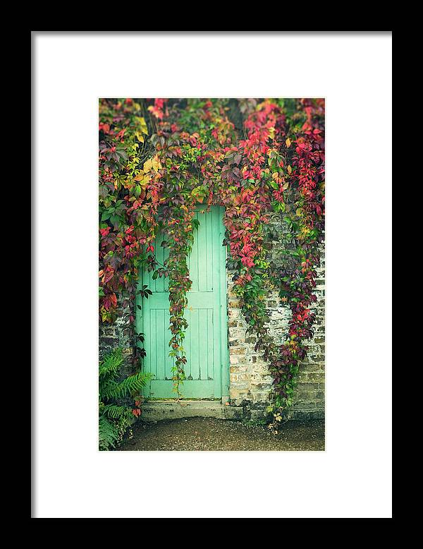 Tranquility Framed Print featuring the photograph Door To The Secret Garden by Image By Catherine Macbride