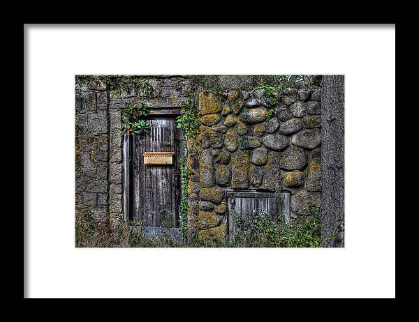 Stone Framed Print featuring the photograph Doorway Through Time by Liz Mackney
