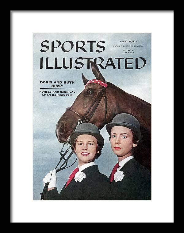 Horse Framed Print featuring the photograph Doris And Ruth Gissy, 1955 Du Quoin State Fair Sports Illustrated Cover by Sports Illustrated