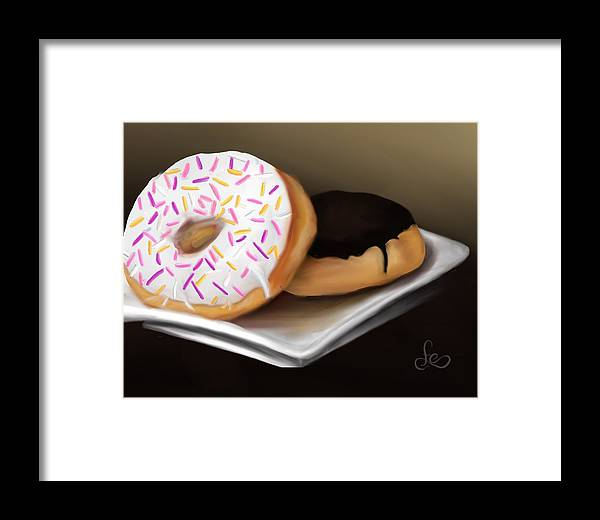 Doughnuts Framed Print featuring the painting Doughnut Life by Fe Jones