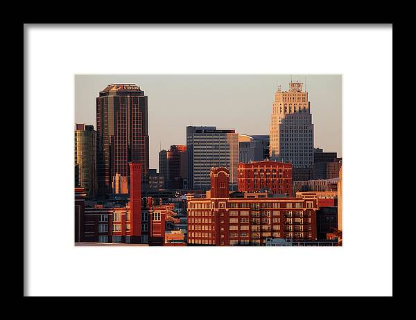 Downtown District Framed Print featuring the photograph Downtown Kansas City by Eric Bowers Photo