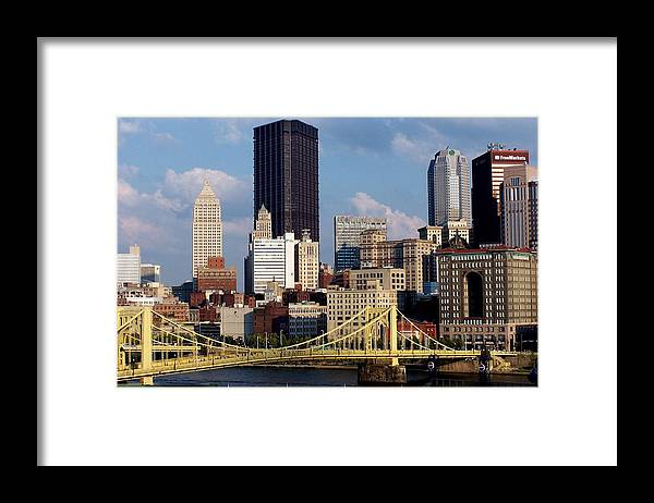 Downtown District Framed Print featuring the photograph Downtown Pittsburgh Panorama From Pnc by Photo By Paul D. Toth