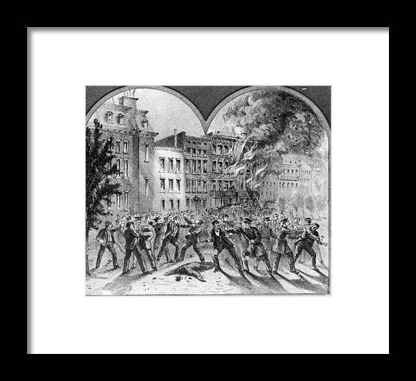 American Civil War Framed Print featuring the photograph Draft Riots by Fotosearch