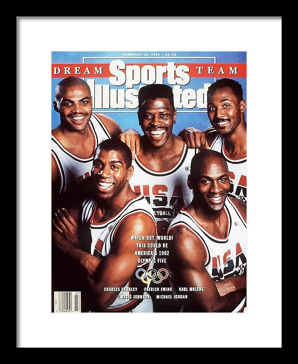The Olympic Games Framed Print featuring the photograph Dream Team, 1992 Barcelona Olympic Games Preview Sports Illustrated Cover by Sports Illustrated