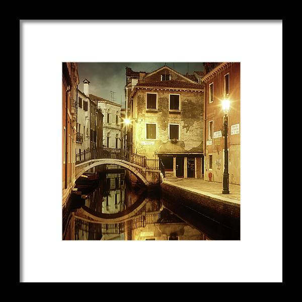 Empty Framed Print featuring the photograph Dreaming Venice by Mammuth