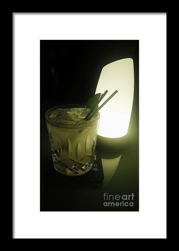Drinks Framed Print featuring the photograph Lime On Fire by Philip
