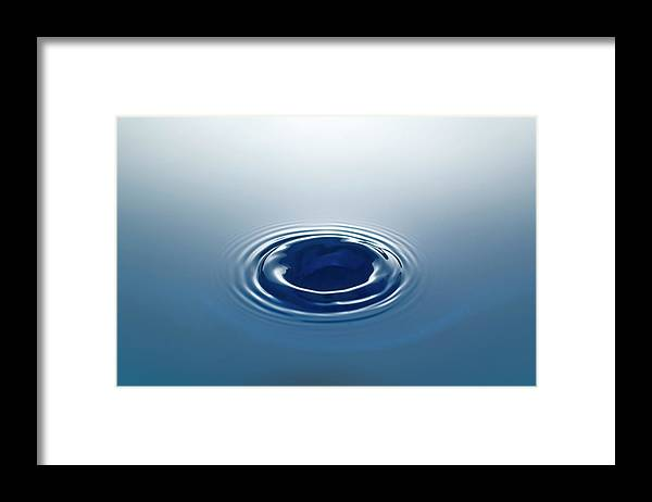 Motion Framed Print featuring the photograph Drop by Stockcam