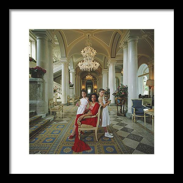 1980-1989 Framed Print featuring the photograph Droulers And Daughters by Slim Aarons
