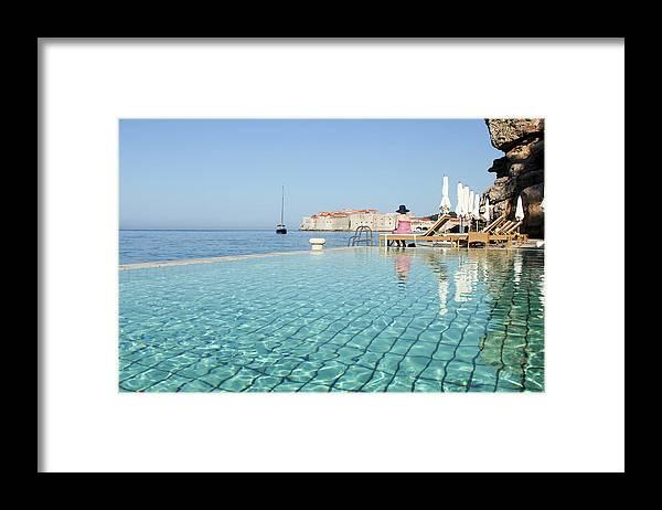 Adriatic Sea Framed Print featuring the photograph Dubrovnik In Dalmatia, Croatia by Davidcallan