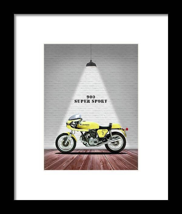 Ducati 900 Super Sport Framed Print featuring the photograph Ducati 900 Super Sport by Mark Rogan