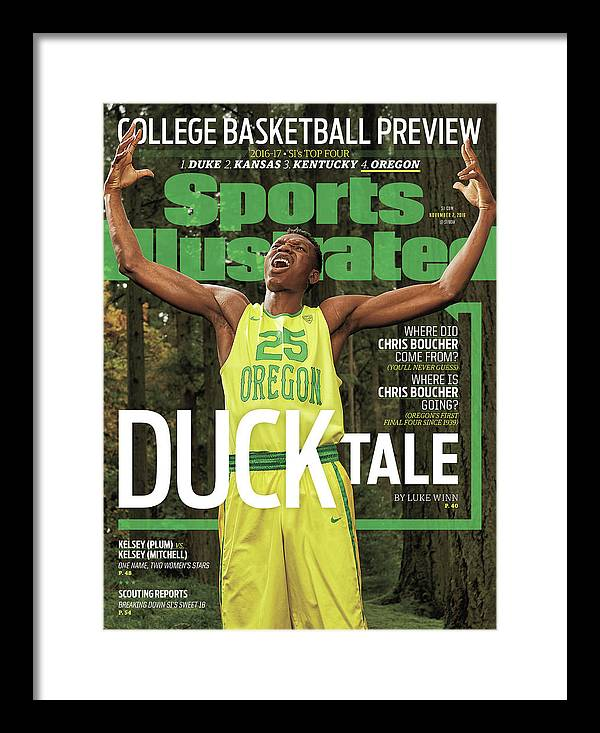 Magazine Cover Framed Print featuring the photograph Duck Tale 2016-17 College Basketball Preview Issue Sports Illustrated Cover by Sports Illustrated
