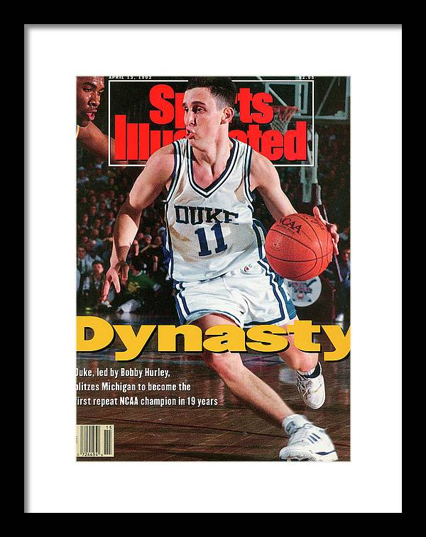 Sports Illustrated Framed Print featuring the photograph Duke University Bobby Hurley, 1992 Ncaa National Sports Illustrated Cover by Sports Illustrated