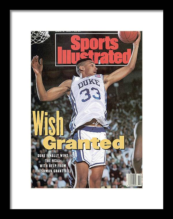 Sports Illustrated Framed Print featuring the photograph Duke University Grant Hill, 1991 Ncaa National Championship Sports Illustrated Cover by Sports Illustrated