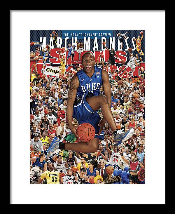 North Carolina Framed Print featuring the photograph Duke University Nolan Smith, 2011 March Madness College Sports Illustrated Cover by Sports Illustrated