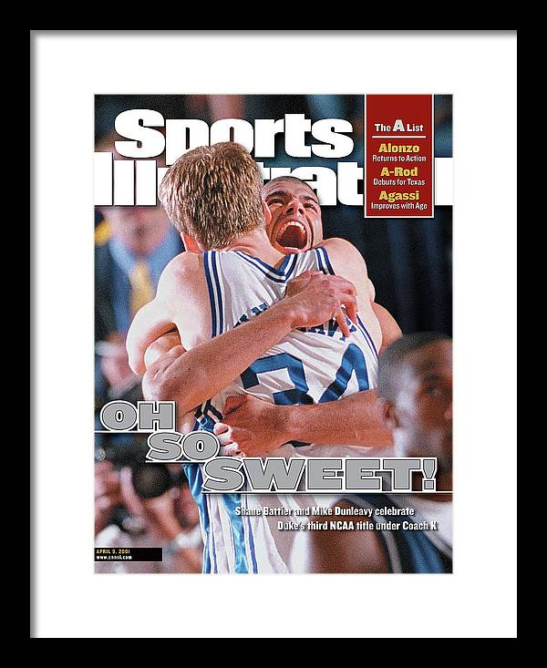 Magazine Cover Framed Print featuring the photograph Duke University Shane Battier, 2001 Ncaa National Sports Illustrated Cover by Sports Illustrated