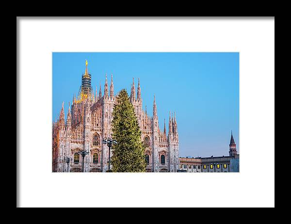 Gothic Style Framed Print featuring the photograph Duomo Di Milano At Christmas by Mmac72