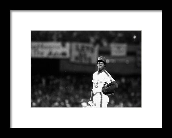 Dwight Gooden Framed Print featuring the photograph Dwight Goodens First World Series Game by New York Daily News Archive