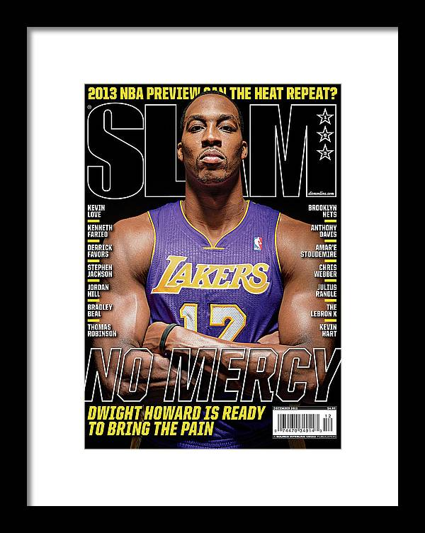 Dwight Howard Framed Print featuring the photograph Dwight Howard: No Mercy SLAM Cover by Atiba Jefferson